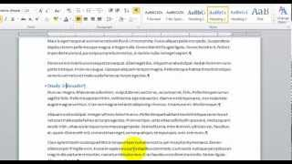 Create A Table Of Contents And Table Of Figures - Microsoft Word