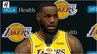 LeBron James Full Press Conference Interview | 2019 NBA Media Day | Lakers
