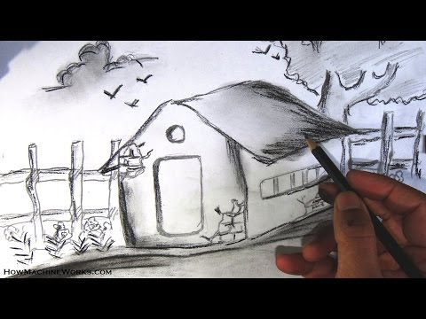 how-to-draw-a-scenery---pencil-drawing