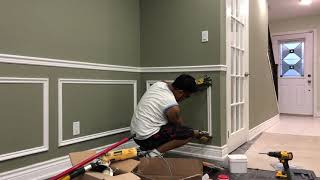 How To Install Chair Railing On Walls or Wainscoting