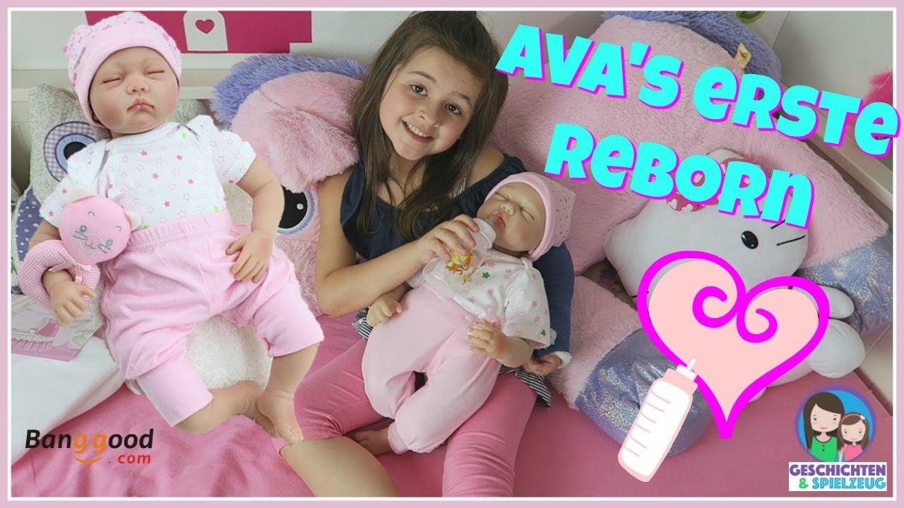 Echtes baby für ava erste reborn puppe