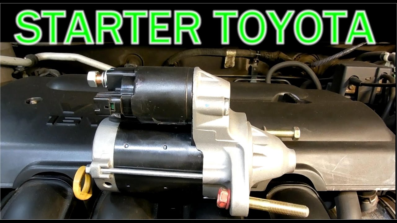 How To Replace Starter In A Toyota Corolla 2003 2008