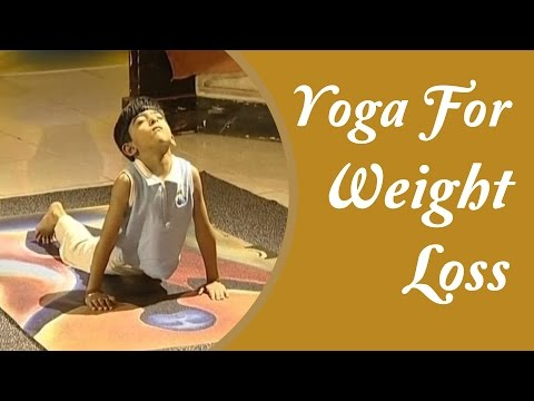 Yoga for Weight Loss For Kids - Simple Asanas For Obese Kids | Yoga Tutorial In Hindi