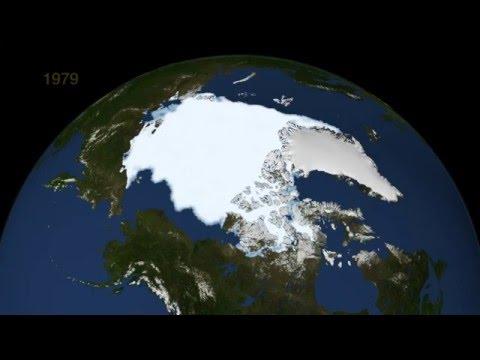 Watch Arctic sea ice shrink