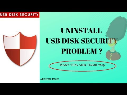 How to uninstall USB Disk Security SIMPLE AND EASY
