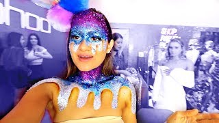 Getting my body PAINTED in GLITTER!!
