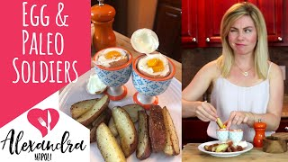 How to Make a Soft-Boiled Egg Cup with Paleo Soldiers | The Hungry Health Coach