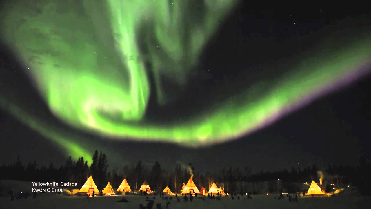 Aurora Substorm - Real Time Motion Yellowknife, Canada -6723