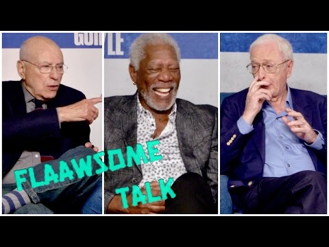 MORGAN FREEMAN  cracks up from MICHAEL CAINE'S PENIS JOKE  / Going in Style