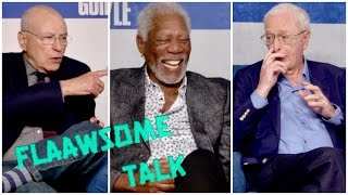MORGAN FREEMAN Cracks Up From Michael Caine's Dirty Joke