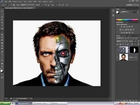 Photoshop CS6 tutorial: Face/Cyborg