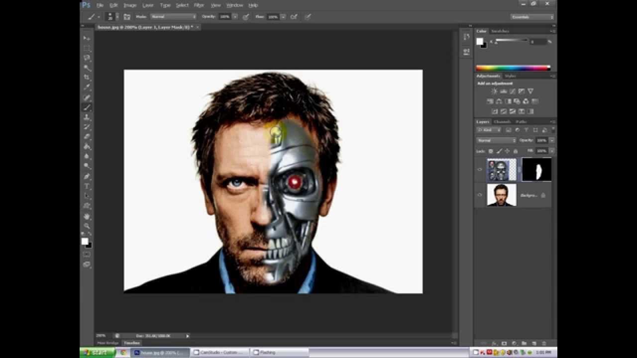 Photoshop cs6 tutorial facecyborg youtube baditri Gallery