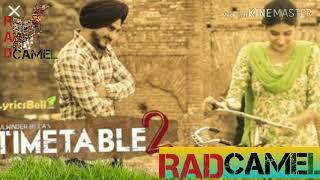 Time table 2 . Kulwinder Billa MP3 song Panjabi  song