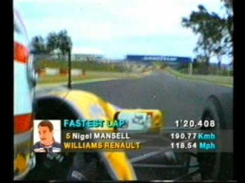 F1 Onboard - 1992 Nigel Mansell Kyalami