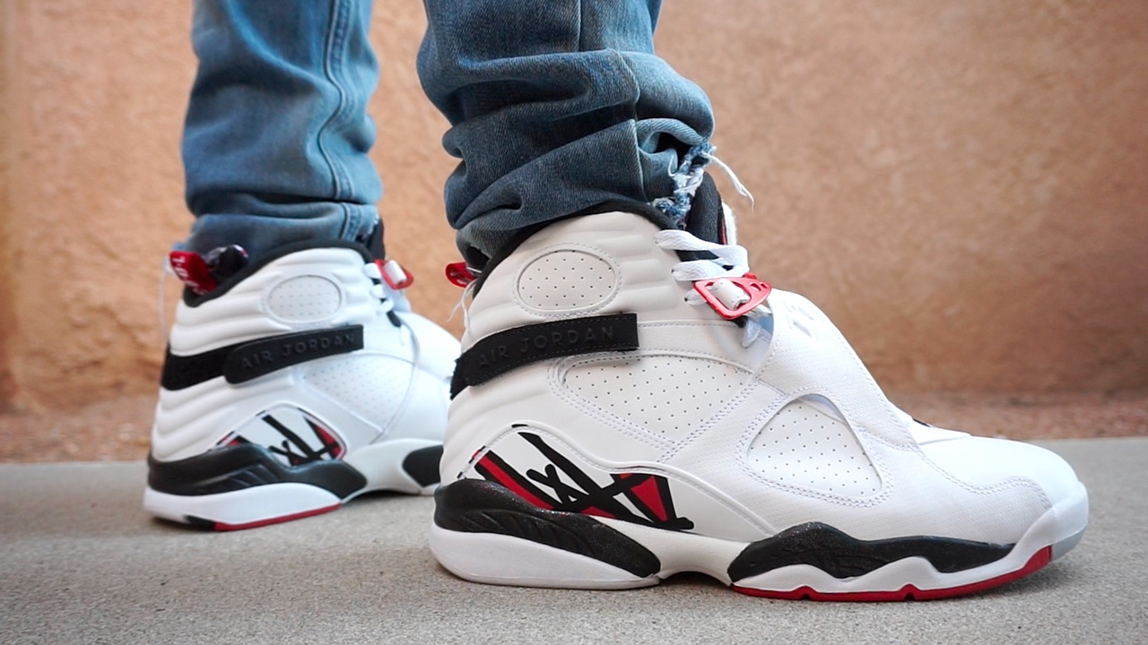 JORDAN 8 RETRO ALTERNATE EARLY UP CLOSE ON FOOT REVIEW !!! - YouTube 2a55de636