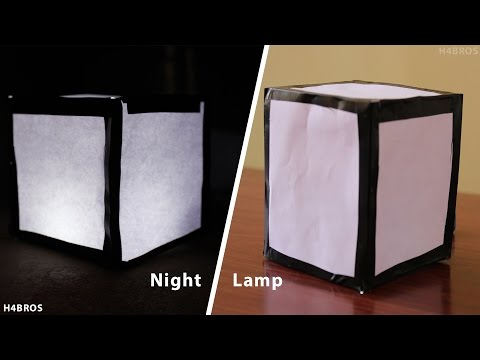 5 min Craft: DIY Night Lamp at Home