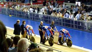mens team sprint final uci world cup classics manchester 2009 gb vs gb