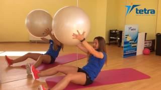 Упражнения с фитболом от Дианы Долговой