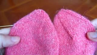 Как вязать мысок носка. Вариант 4: Пропеллер