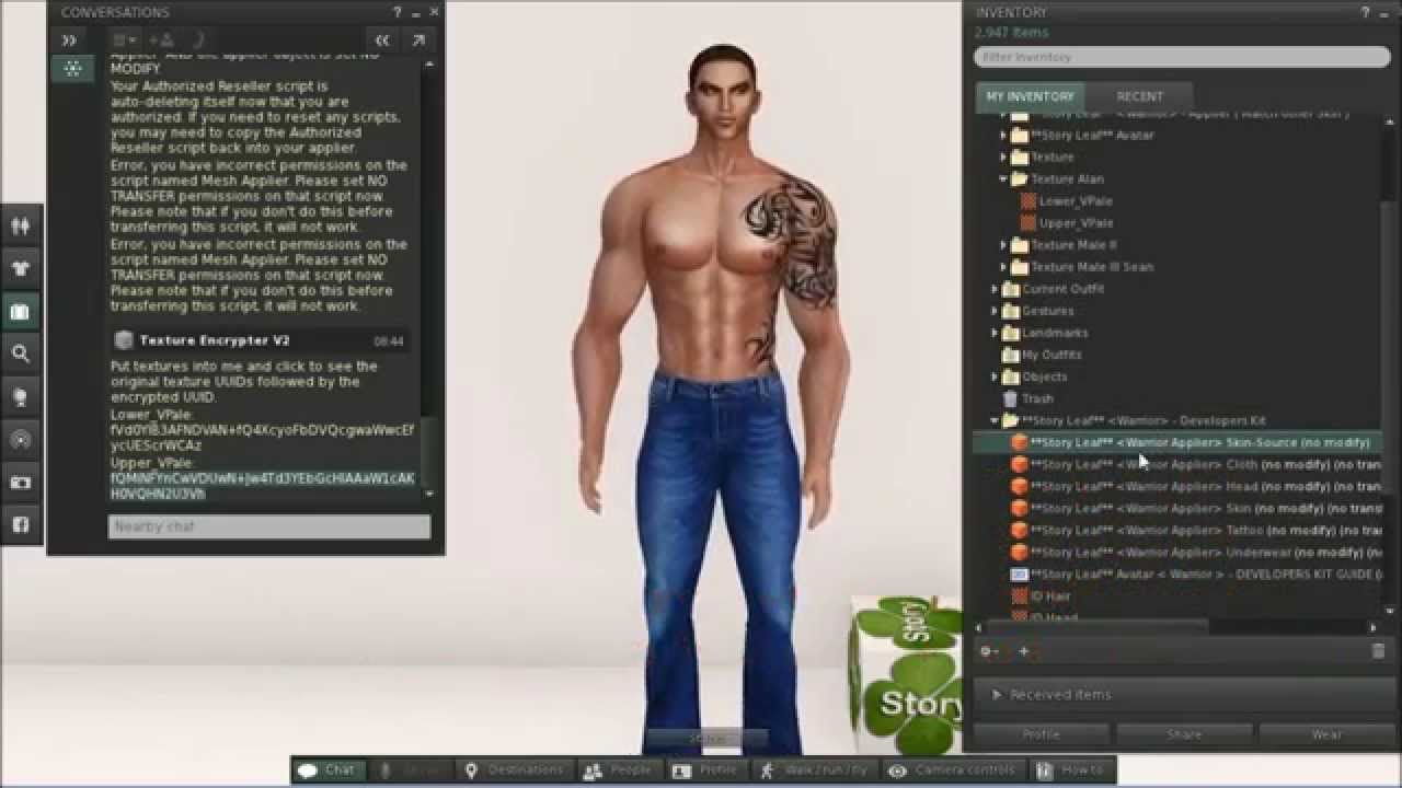 Hd video tutorial – texturing second life avatar face with.