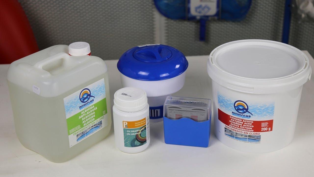 Kit completo tratamiento con OXIGENO ACTIVO I Piscinas TOI