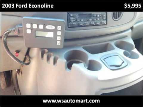 2003 Ford Econoline Used Cars St Augustine FL