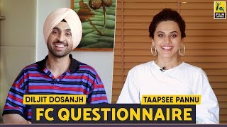 Diljit Dosanjh Taapsee Pannu Soorma Fc Questionnaire