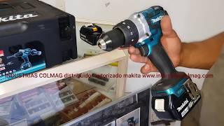 Taladro dhp481 Makita 18 voltios descripción y prueba de trabajo