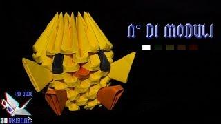 [ORIGAMI 3D ITA] Pulcino (Pochi Pezzi) || Animali/Veloci da Creare