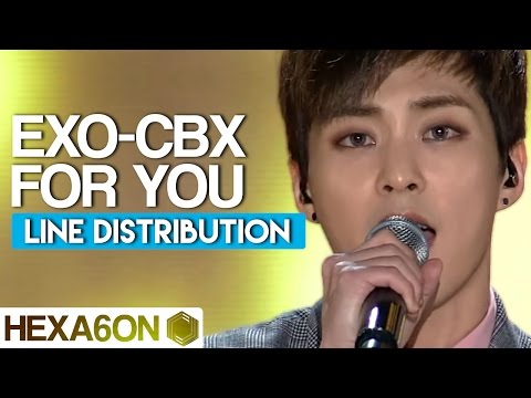 EXO-CBX - For You (Scarlet Heart: Ryeo OST) Line Distribution (Color Coded)