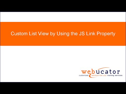 Custom List View by Using the JS Link Property