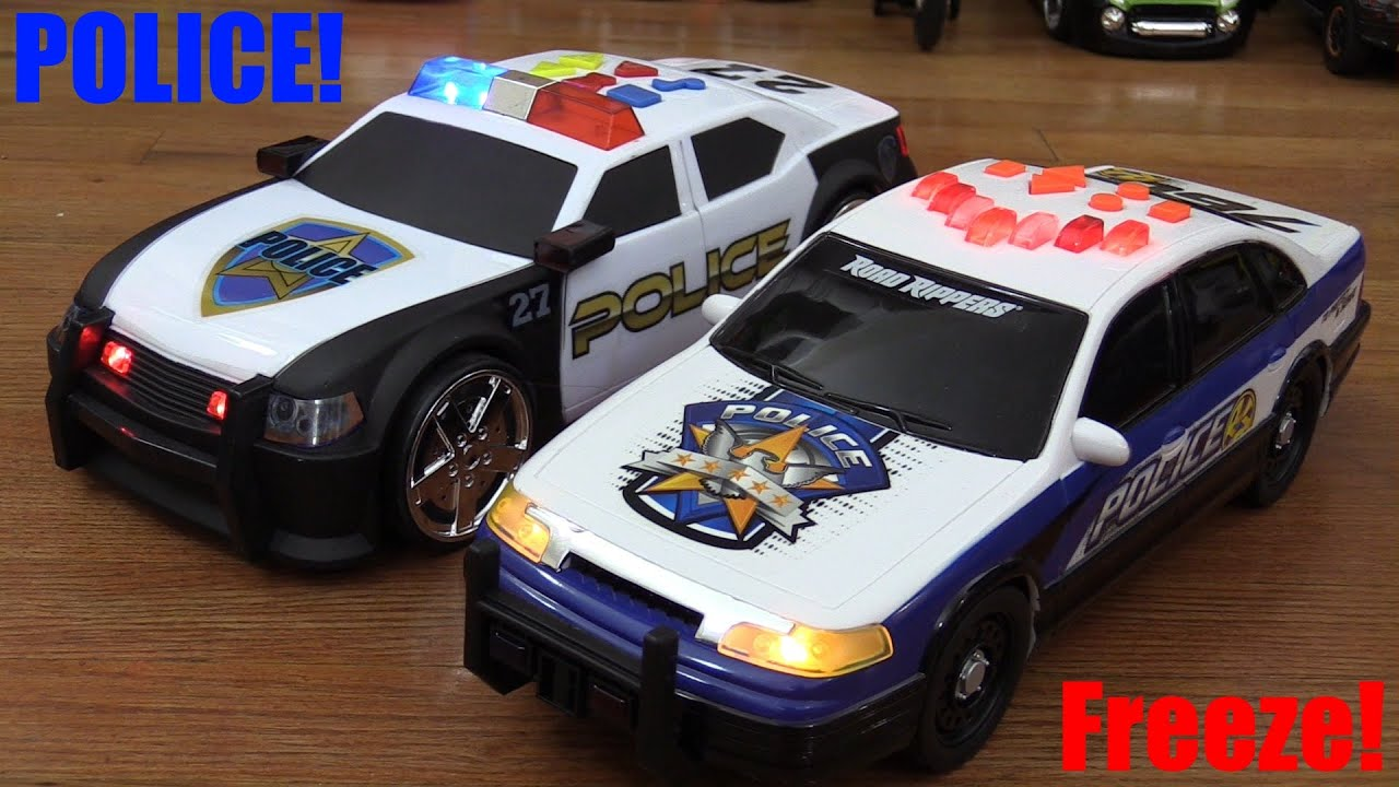 Toy Police Cars : Toy cars police unboxing and playtime fun w