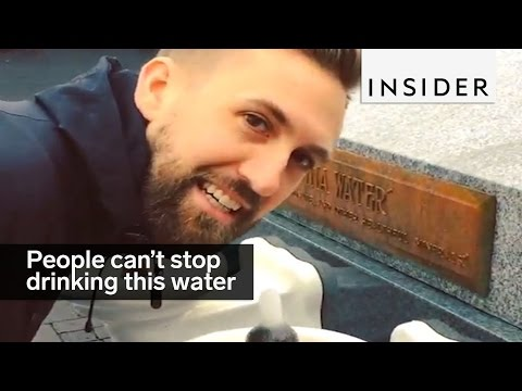 People can't stop drinking from this gross-tasting water fountain