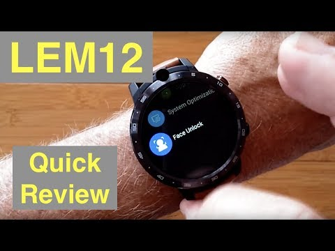 LEMFO LEM12 4G 3GB/32GB Android 7.1.1 Smartwatch With 900 MAh Power Bank: Unboxing And 1st Look