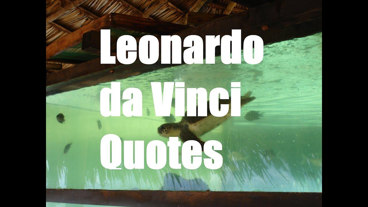 Top 5 Leonardo Da Vinci Quotes Youtube