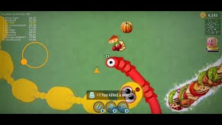 WormsZone.io Best Trolling Slither Snake Top 01 /World Record WormsZoneio Epic Gameplay/Moments #60