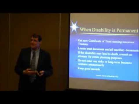 Disability, Nursing Home and a Trust (Video 10 by Ron Adams, Chandler AZ Estate Planning Attorney)