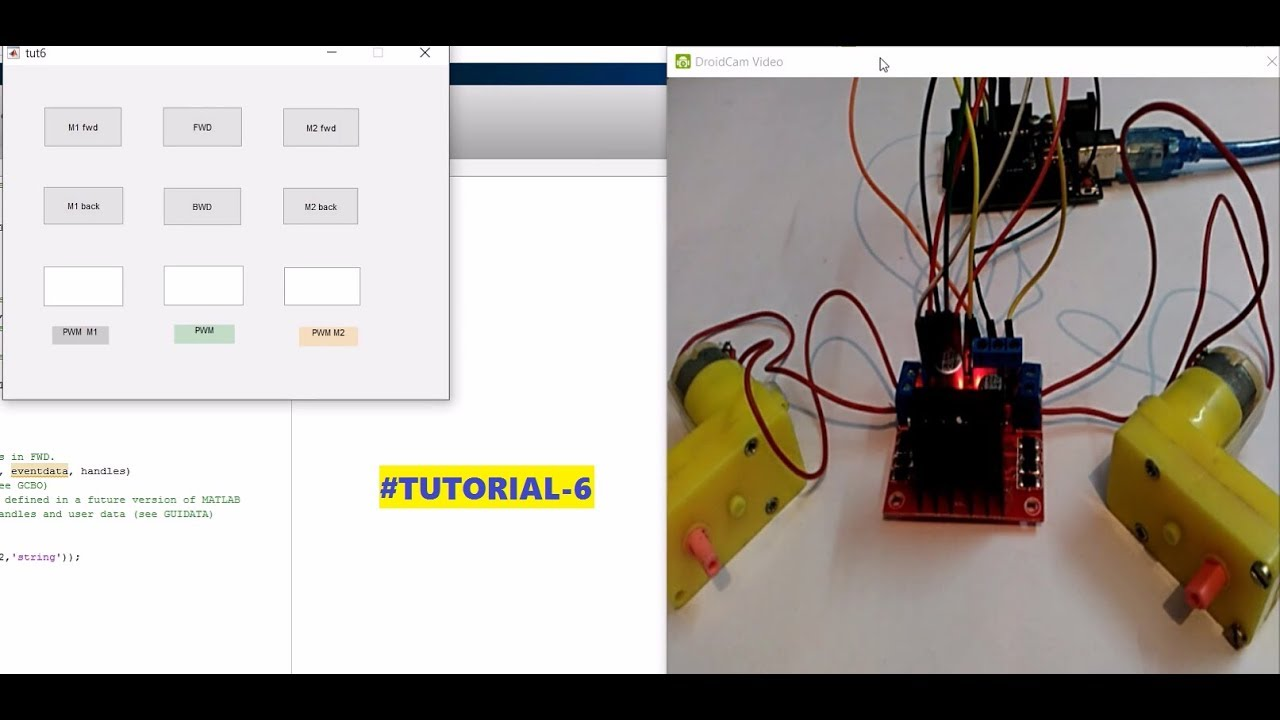 1 5 0 PROJECT OVERVIEW: L298N Motor control using Arduino with Matlab GUI