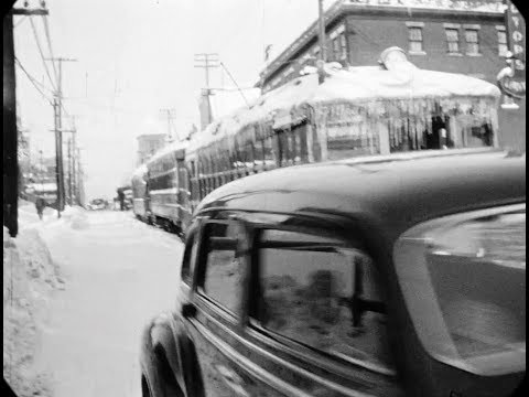 Dec 1942 - Winter Street Scenes in Ottawa (speed corrected w/ added sound)