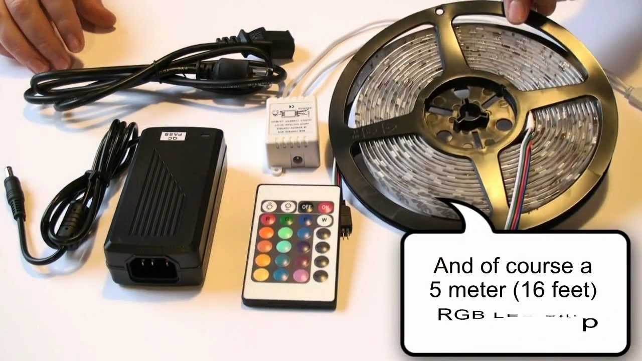 How to connect the rgb led strip kit magnetic gadgets youtube aloadofball Gallery