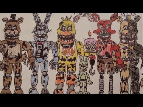 FNAF Drawing - Five Nights At Freddy's 4 - Nightmares