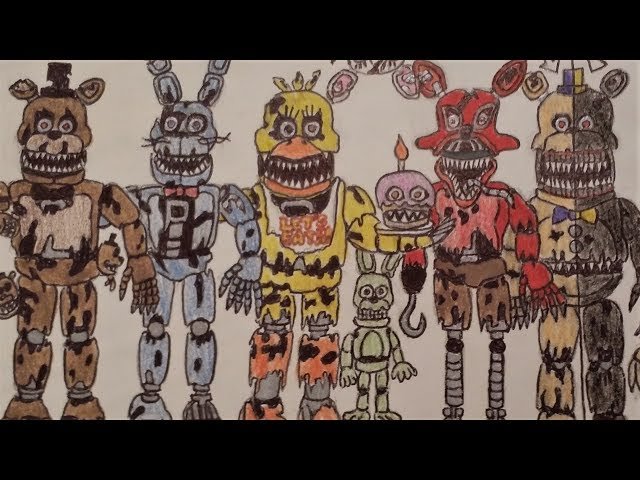 How To Draw Five Nights At Freddy S 4