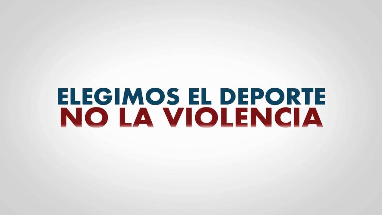 Resultado de imagen de no a la violencia en el futbol