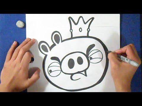 Como Desenhar Porco Angry Birds Youtube