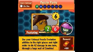 Puzzle Party !!! Daily Event 22 th November 2017 Plants vs Zombies Heroes 2017 Video