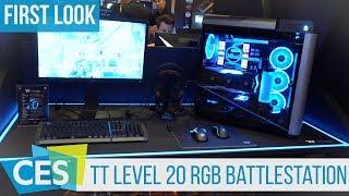 Thermaltake Level 20 RGB BattleStation Gaming Desk #CES2019