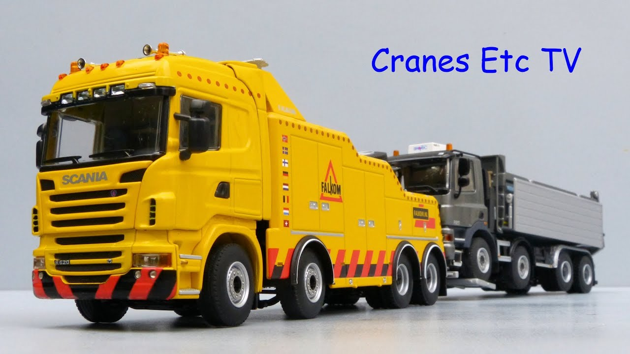 Wsi Scania R6 Highline Falkom Recovery Truck By Cranes Etc