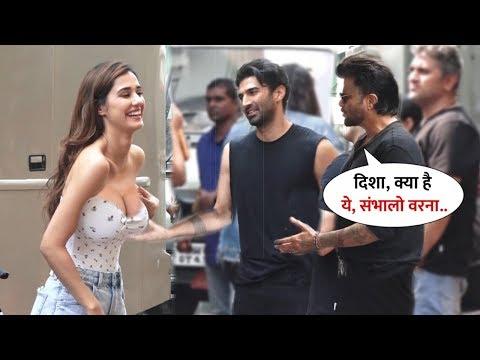 Disha Patani Sweetest Enjoying Time With Aditya-Anil Kapoor Inside Filmcity   After Shooting Wrap
