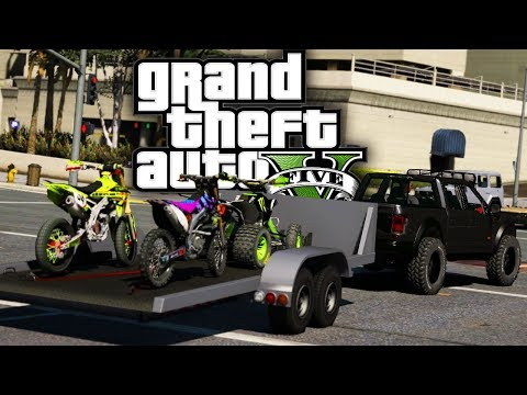 Buying 2 Dirtbikes & an ATV! - GTA 5 Real Hood Life 2 - Day 13