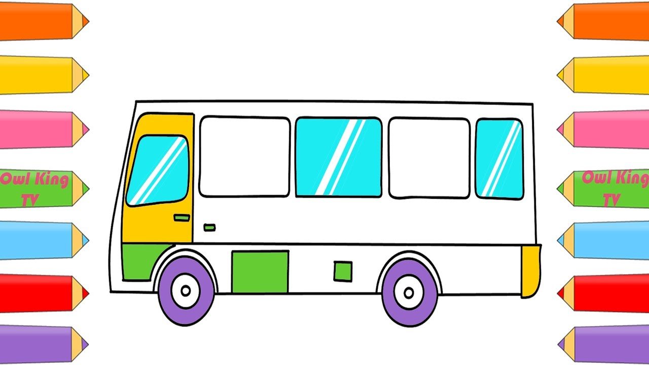 How To Draw Car School Bus Coloring Page